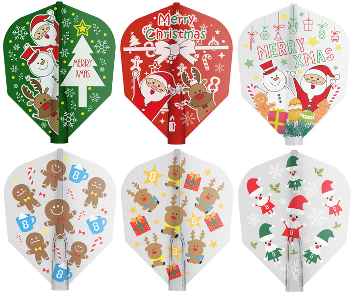 DARTS FLIGHT【8FLIGHT】Christmas Shape Mix