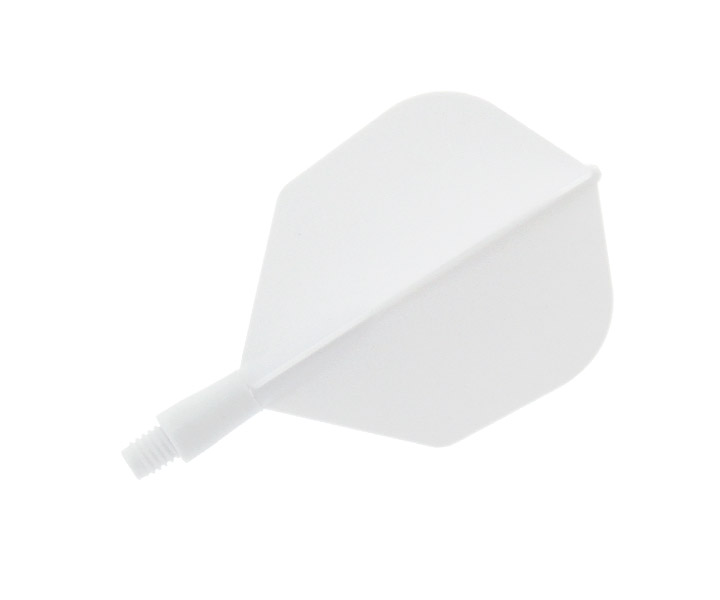 DARTS FLIGHT【Ptera Factory】Shaft一體型Flight Seamless Shape SuperShort White